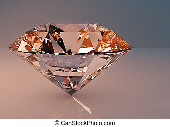 Large clear luxury diamond jewel.