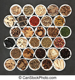 Large Collection of Chinese Herbal Medicine
