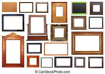 large collection of frames