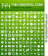 Large collection of thin universal web icon set for your...