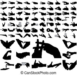 Large collection of vector arms, hands.