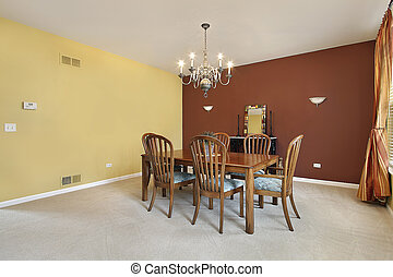 Large colorful dining room