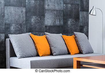 Large comfortable sofa in lounge