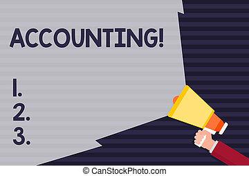 large, compte, concept, faisceau, texte, motiver, range., vous-même, volume, étendre, signification, intérieur, tenue, vide, main, voix, écriture, porte voix, accounting.