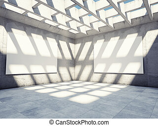 Large concrete hall