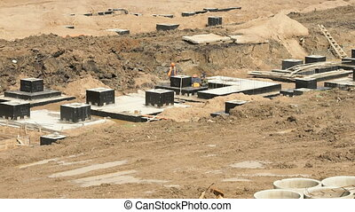 Large construction of large complex of buildings