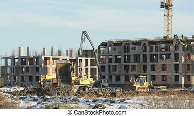 Large construction of large complex of buildings - Building ...