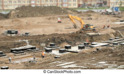 Large construction of large complex of buildings - Large...