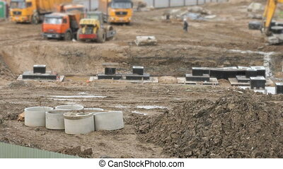 Large construction of large complex of buildings -...