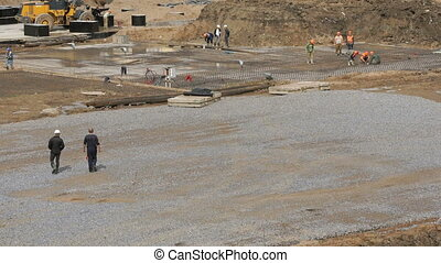 Large construction of large complex of buildings - Building...