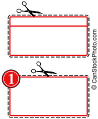 Large coupon cut out - Illustration of a large coupon cut...