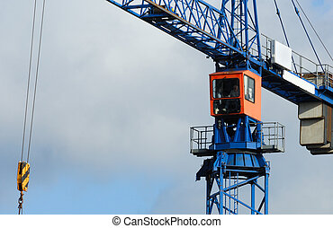 large crane at a construction site
