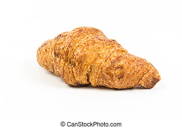 large croissant on a white background