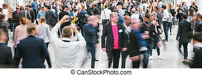 large crowd of anonymous people walking - crowd of anonymous...