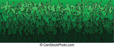 large crowd of dancing people