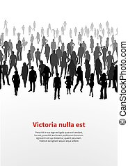 Large crowd of people. vector background