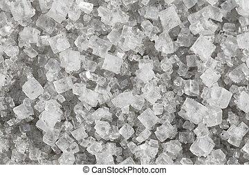 Large crystals of sodium chloride - macro