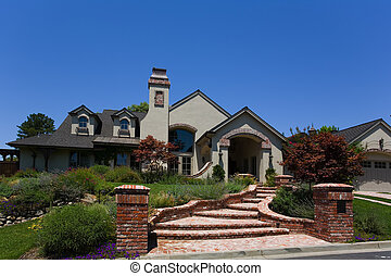 Large Custom Home - Exterior shot of a large custom home