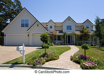exterior shot of a large custom home