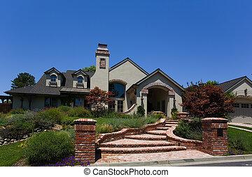 Large Custom Home - Exterior shot of a large custom home