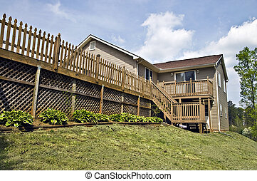 Large Deck on Home