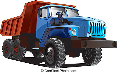 Large Dumper - Vectorial image of large dumper isolated on...