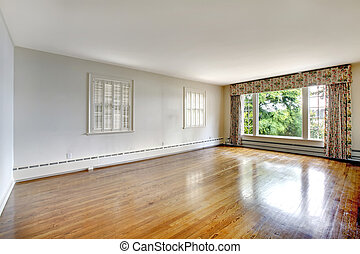 Large elegant luxury historical home empty bedroom.