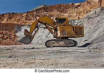 Large excavator at Open pit - Bor, Serbia - April 15,2015:...