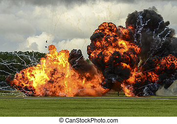 Large Explosion - large explosion photographed at an airshow...