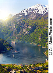 large ferry in Norway