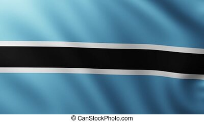Large Flag of Botswana fullscreen background fluttering in the wind with wave patterns