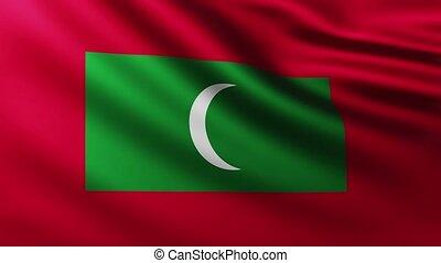 Large Flag of Maldives Islands full screen background ...