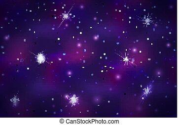 large, fond, espace, constellations, clair, profond, étoiles