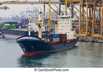 Large Freight Operation in Harbor