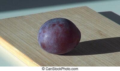 large fresh plum. sweet fruit dessert. harvest