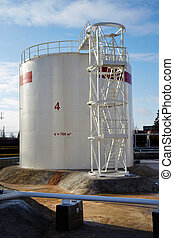 large fuel tank at oil storage