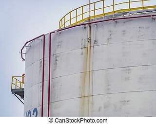 Large fuel tank close up