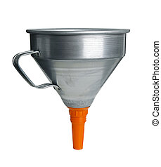 Funnel isolated on white background with clipping path