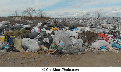 Large garbage dump