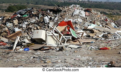 Large garbage dump waste