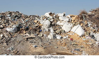 Large garbage dump waste - Volgograd, Russian Federation...