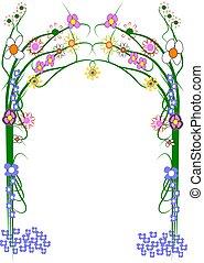 large garden trellis on white - trellis for homes and...