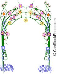 trellis for homes and gardens with flowers