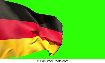 Large germany national flag blowing