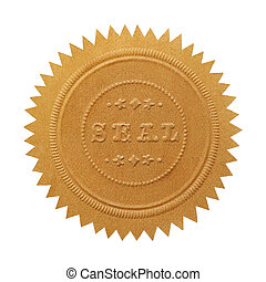Large Gold Seal