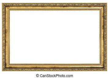 large golden frame