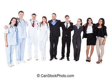 Large ground of doctors and managers
