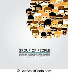 large group, národ