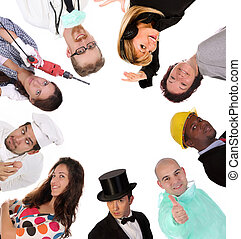 diversity workers - Large group of diversity workers people...