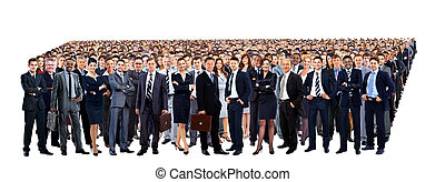 Large group of people full